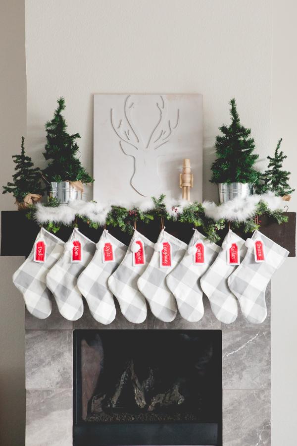 Christmas Mantle.Modern Farmhouse Christmas Mantle Everyday Megan