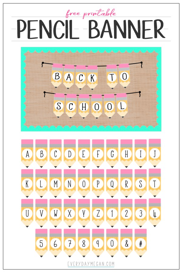 Personalized Pencil Banner
